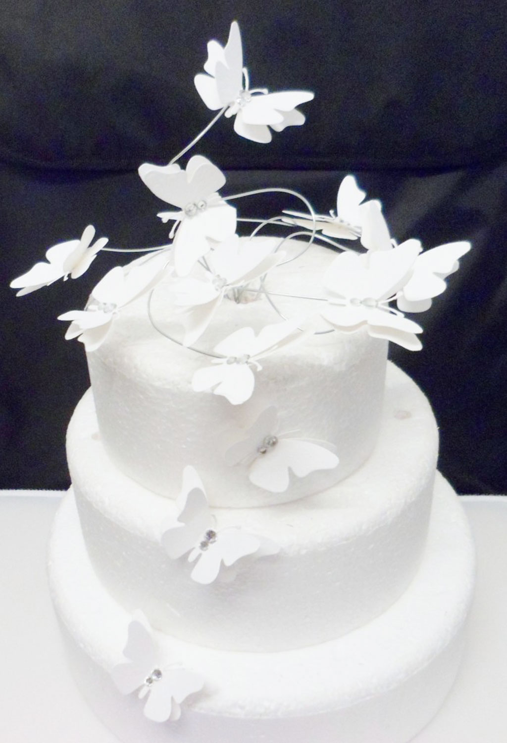 White Erfly Swirl Wedding Cake Topper Picture In