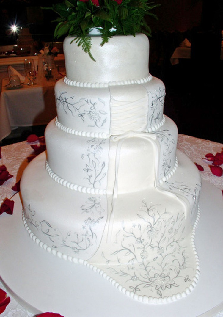White Wedding Cakes Richmond Va Picture in Wedding Cake