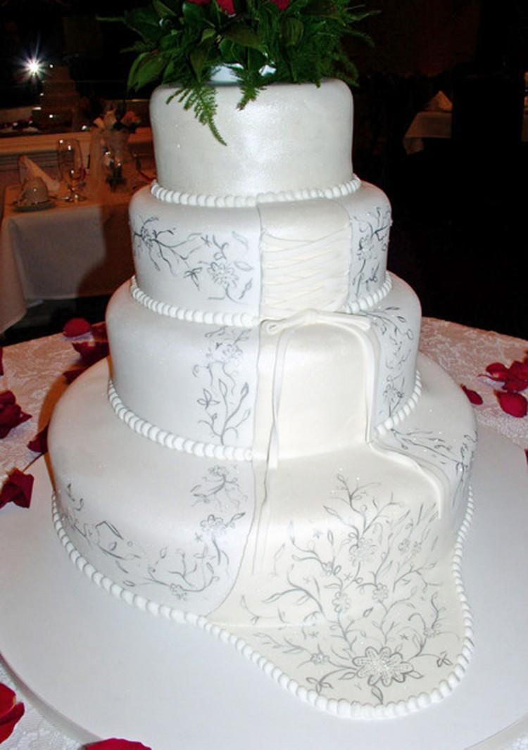 White Wedding Cakes Richmond Va Picture in Wedding Cake