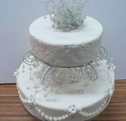 1024x1538px Winter Wonderland Wedding Cake Picture in Wedding Cake