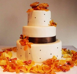1024x1245px Yellow Orchids Wedding Cake Favors Picture in Wedding Cake