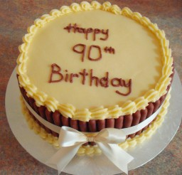 1024x871px Yelow Cakes For 90th Birthday Picture in Birthday Cake