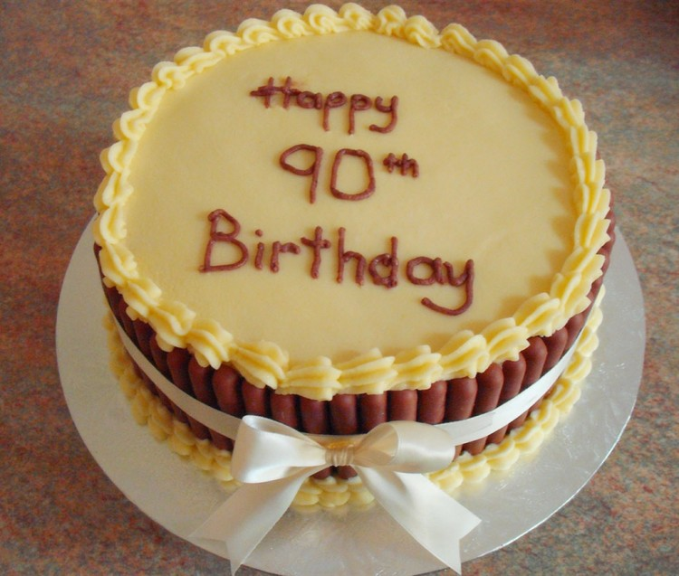 Yelow Cakes For 90th Birthday Picture in Birthday Cake