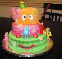 1024x768px Yo Gabba Gabba Birthday Cake Picture in Birthday Cake