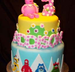 1024x1365px Yo Gabba Gabba Birthday Cakes Kids Picture in Birthday Cake