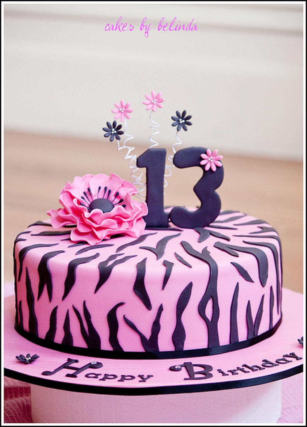 Zebra Print Birthday Cake Photos Birthday Cake Cake Ideas By