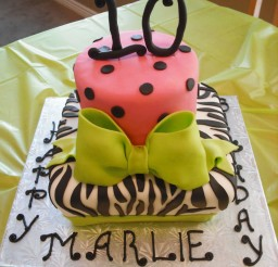 1024x1365px Zebra Print Birthday Party Ideas Picture in Birthday Cake