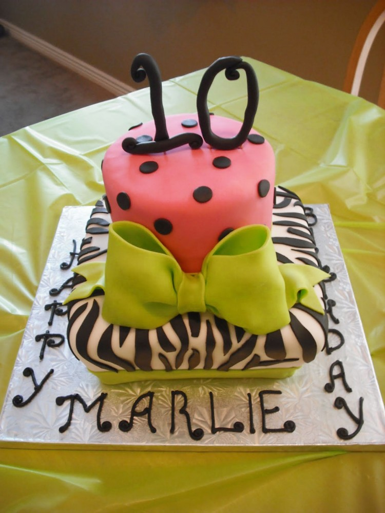 Zebra Print Birthday Party Ideas Picture in Birthday Cake