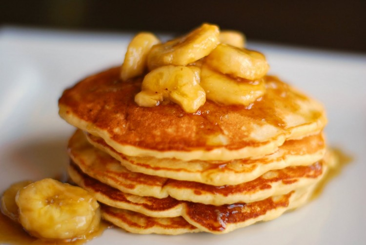 Banana Pancakes Recipe With Pancake Mix Picture in pancakes