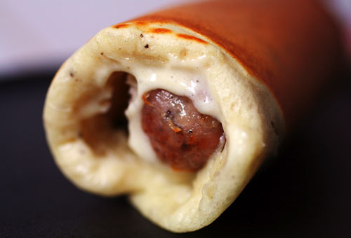 Jimmy Dean Sausage Pancake Stick Picture in pancakes