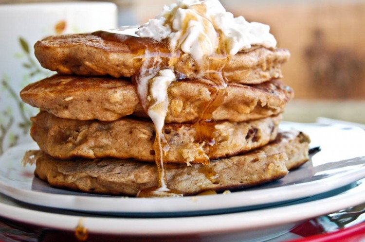 Oatmeal Raisin Pancakes Picture in pancakes