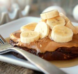 550x367px Peanut Butter Pancakes Bisquick Picture in pancakes