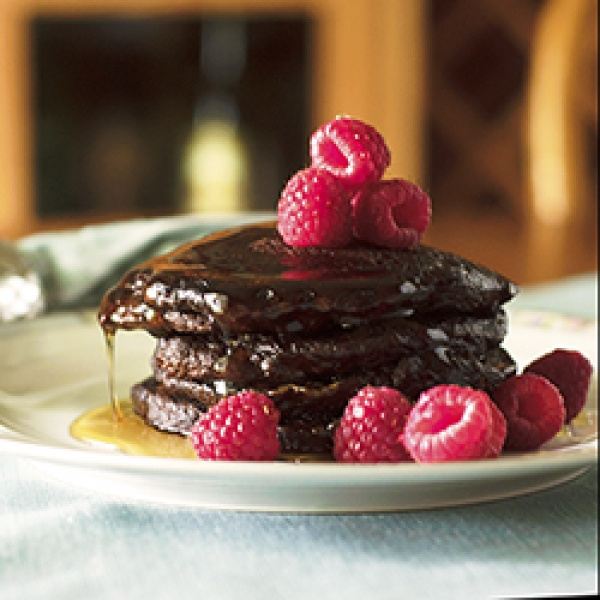 Raspberry Pancake Recipe Picture in pancakes