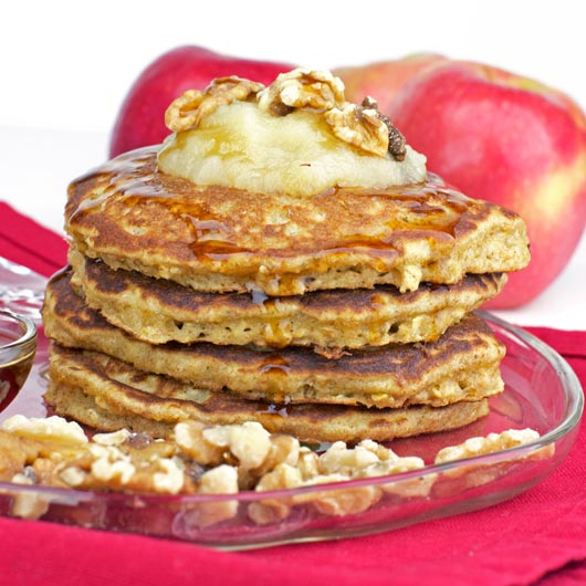 Applesauce Oatmeal Pancakes Picture in pancakes