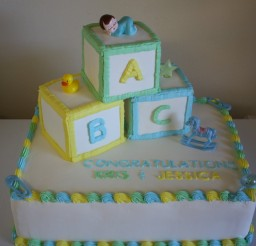 900x600px Baby Block Cake Picture in Cake Decor