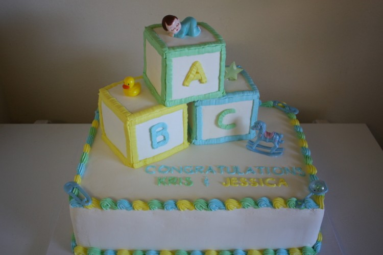 Baby Block Cake Picture in Cake Decor