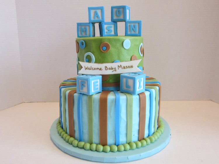 Baby Blocks Cake Picture in Cake Decor
