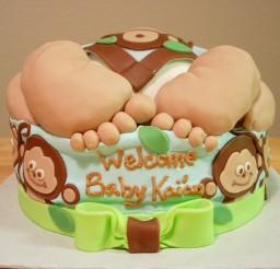 640x547px Baby Rump Cake Picture in Cake Decor