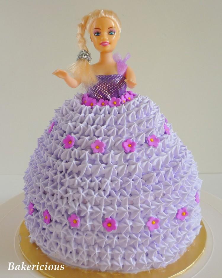 Barbie Doll Cake Picture in Cake Decor