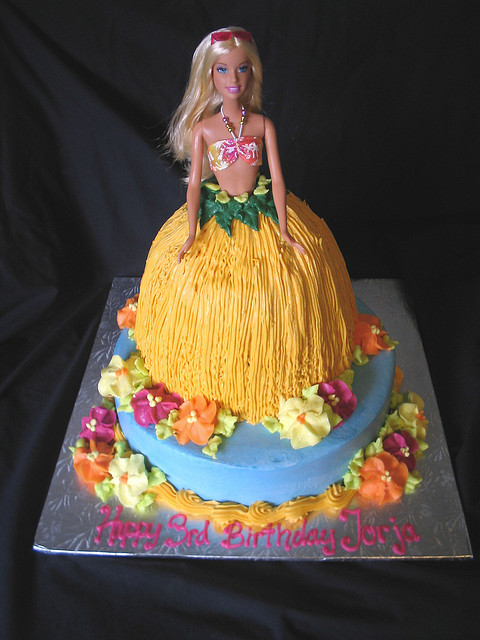 Barbie Dress Cake Picture in Cake Decor