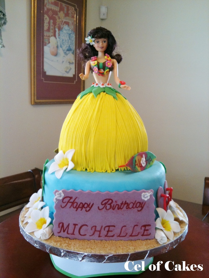 Barbie Skirt Cake Picture in Cake Decor