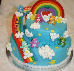 1486x1600px Care Bears Cake Picture in Birthday Cake