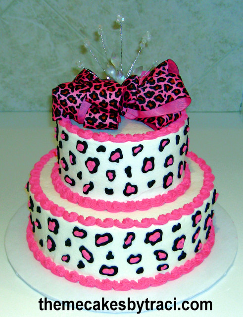 Cheetah Print Cakes Picture in Cake Decor
