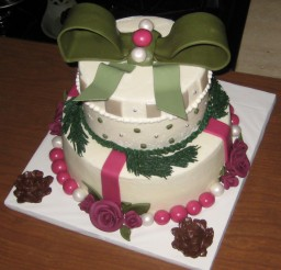 880x892px Christmas Theme Cakes Picture in Cake Decor