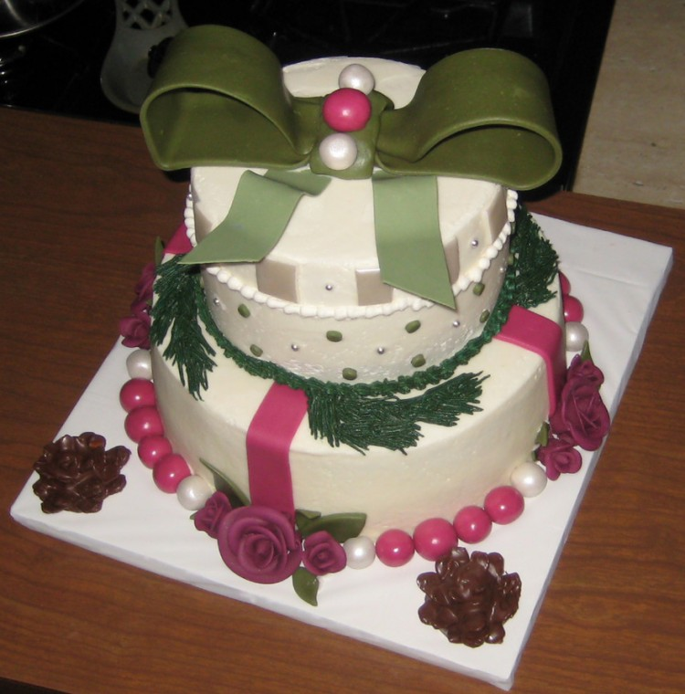 Christmas Theme Cakes Picture in Cake Decor
