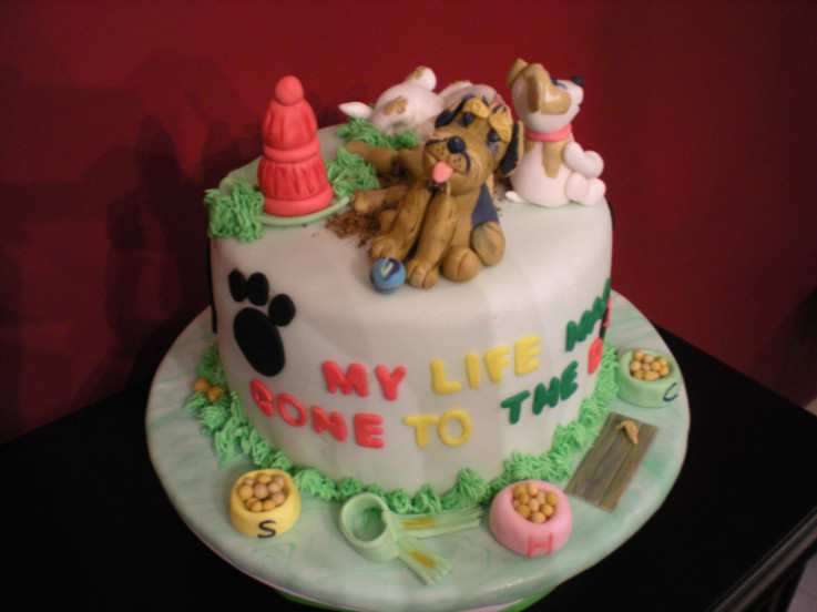 Dog Cake Decorating Picture in Cake Decor
