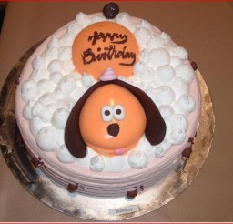 640x582px Dog Shaped Birthday Cakes Picture in Birthday Cake