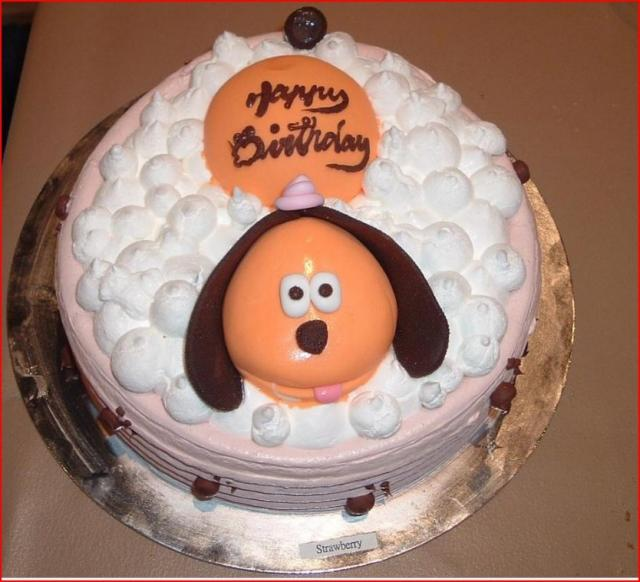 Dog Shaped Birthday Cakes Picture in Birthday Cake
