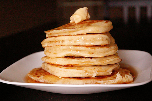 Easy Fluffy Pancake Recipe Picture in pancakes