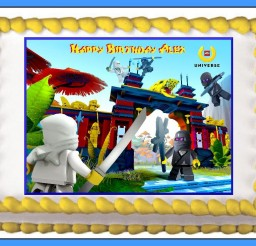 1095x742px Edible Lego Cake Toppers Picture in Cake Decor