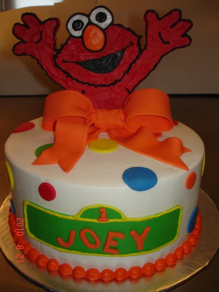 Elmo Fondant Picture in Cake Decor