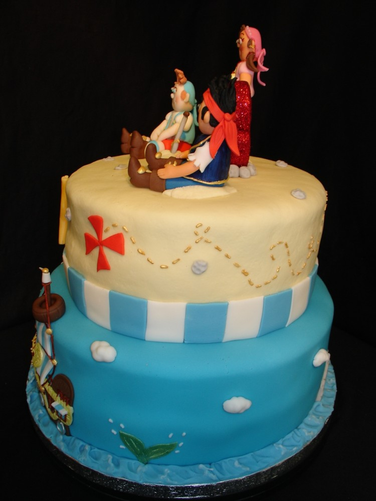 Fondant Jake And The Neverland Pirates Picture in Cake Decor