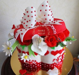 450x569px Gift Box Cake Picture in Cake Decor