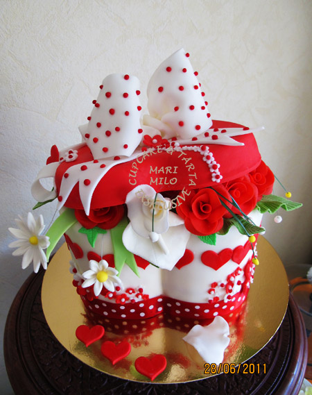 Gift Box Cake Picture in Cake Decor