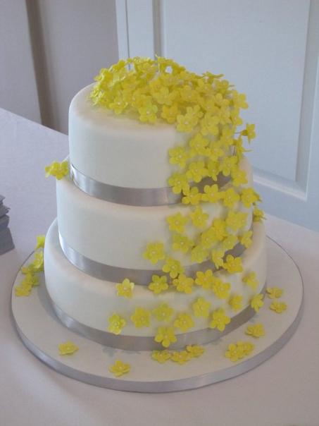 Gray Fondant Picture in Cake Decor