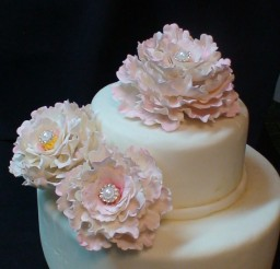 570x1013px Gumpaste Peonies Picture in Cake Decor