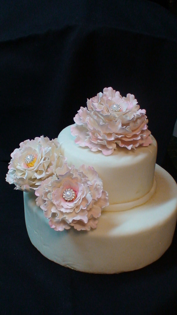 Gumpaste Peonies Picture in Cake Decor