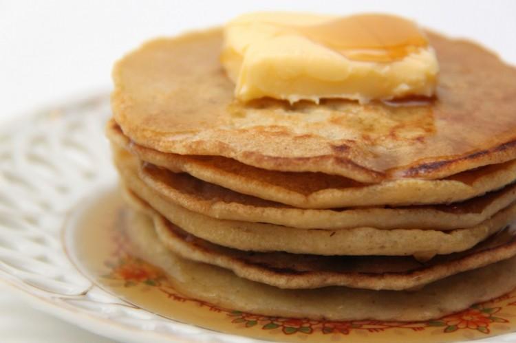 Homemade Pancake Batter Picture in pancakes