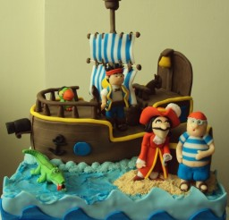 736x890px How To Make A Jake And The Neverland Pirate Cake Picture in Cake Decor