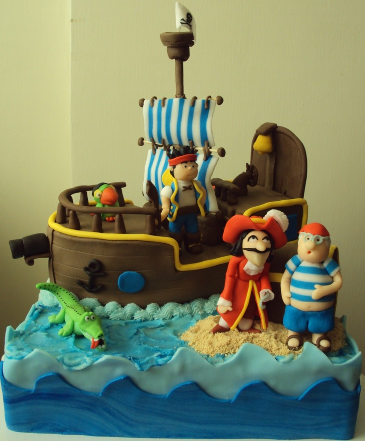 How To Make A Jake And The Neverland Pirate Cake Picture in Cake Decor