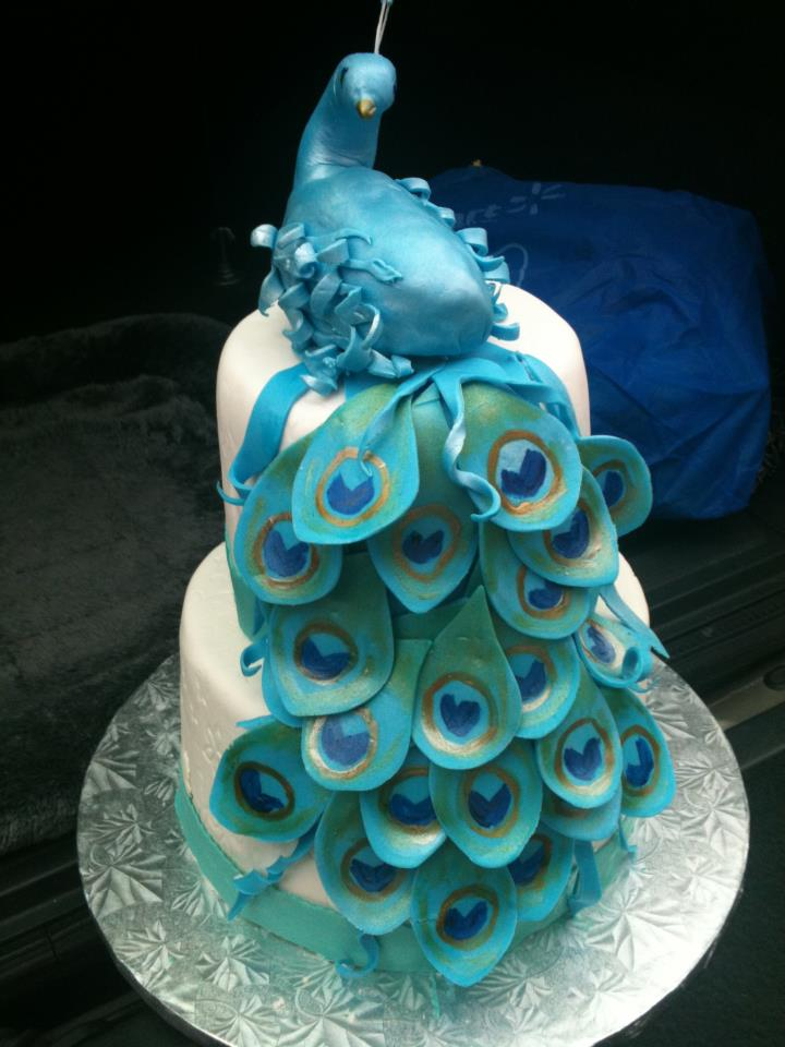 How To Make A Peacock Cake Picture in Cake Decor