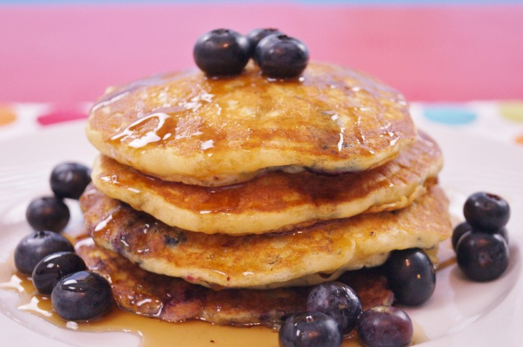 How To Make Blueberry Pancakes From Scratch Picture in pancakes