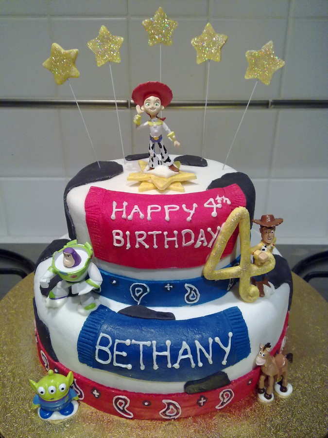 Jessie Birthday Cake Picture in Cake Decor