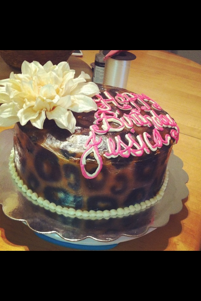 Leopard Print Cake Decorations Picture in Cake Decor
