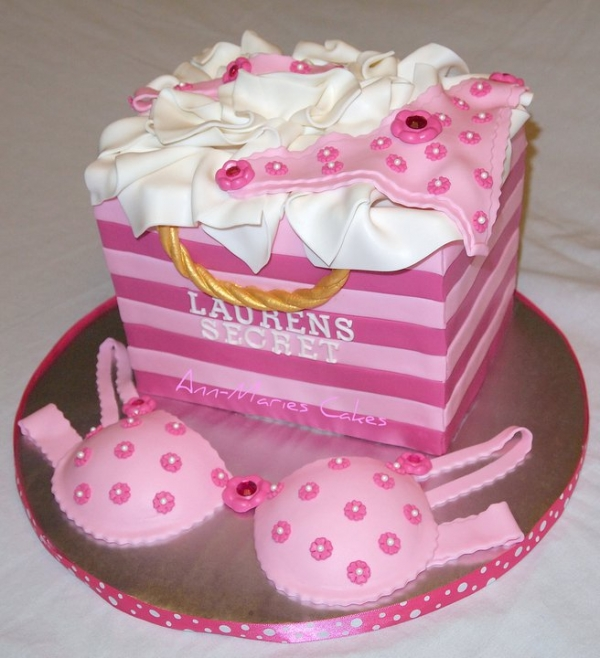 Lingerie Shower Cake Picture in Wedding Cake
