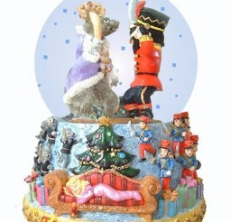 504x600px Nutcracker Snow Globe Picture in Cake Decor